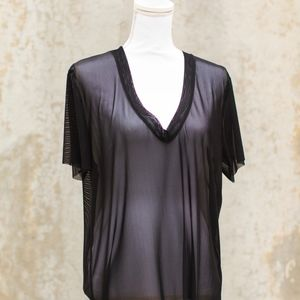 Urban Outfitters Sheer Black T-Shirt